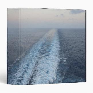 Ocean view of wake from the rear of a cruise binder