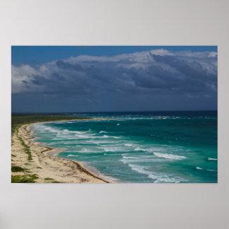"""Ocean View Off Cozumel"" Poster 16x12"