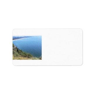Ocean View on the Oregon Coast Label