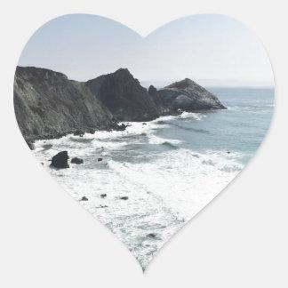 Ocean View Pacific Coast Highway Big Sur Heart Sticker