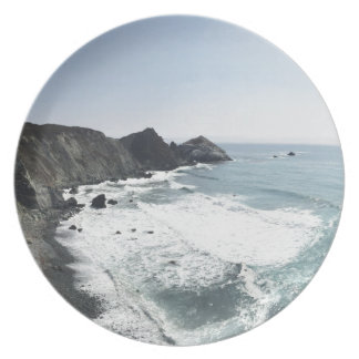 Ocean View Pacific Coast Highway Big Sur Plate