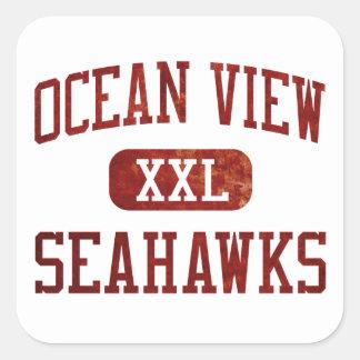 Ocean View Seahawks Athletics Square Sticker
