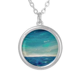 Ocean View Silver Plated Necklace