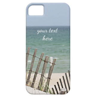 Ocean view through the weathered beach fence iPhone 5 case