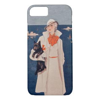 Océan vintage de chien de Madame White Suit Scotty Coque iPhone 7