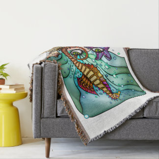 OCEAN VISIONS SEA ART THROW BLANKET
