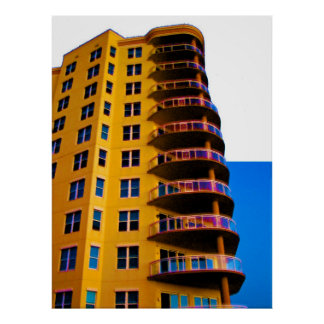 Ocean Vistas Corner Units Architecture Photo Art 3 Poster
