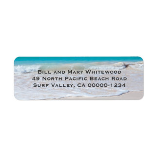 Ocean Water and Beach Sand Return Address Labels