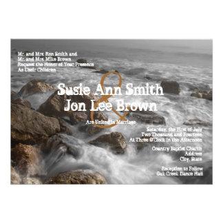 Ocean Water Beach Wedding Invitations