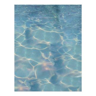 Ocean water letterhead
