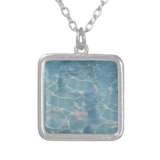 Ocean water silver plated necklace
