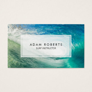 Ocean Water Surf Instructor Professional Business Card
