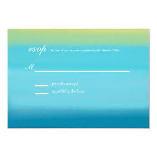 Ocean Watercolor Monogram Collection   rsvp 3.5x5 Paper Invitation Card