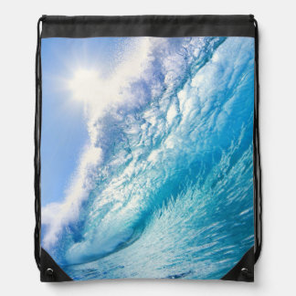 OCEAN WAVE 1 DRAWSTRING BAG