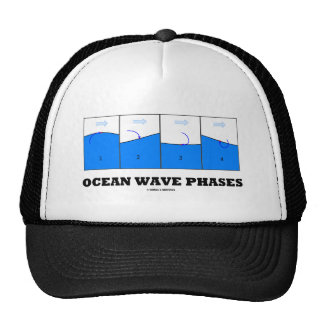 Ocean Wave Phases (Physics) Trucker Hat