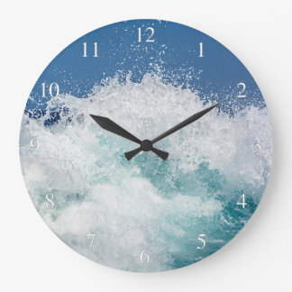 Ocean Wave Small Numbers Large Clock