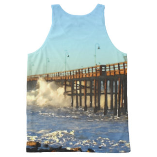 Ocean Wave Storm Pier All-Over-Print Tank Top