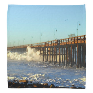 Ocean Wave Storm Pier Bandana