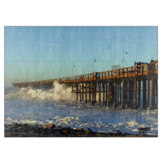 Ocean Wave Storm Pier Boards