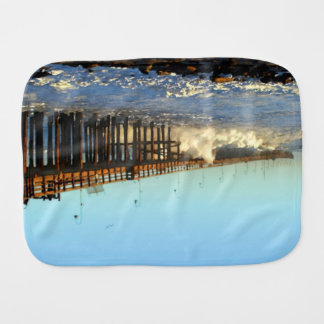 Ocean Wave Storm Pier Burp Cloth