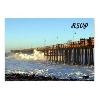 Ocean Wave Storm Pier Card