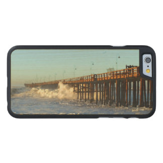 Ocean Wave Storm Pier Carved Maple iPhone 6 Case