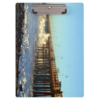 Ocean Wave Storm Pier Clipboard