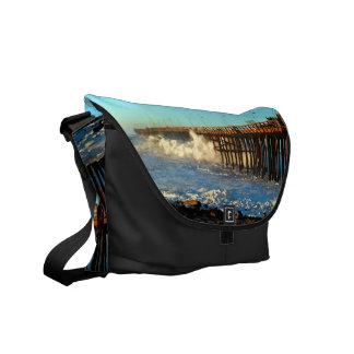 Ocean Wave Storm Pier Commuter Bag