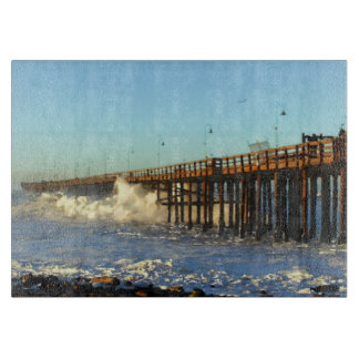 Ocean Wave Storm Pier Cutting Board