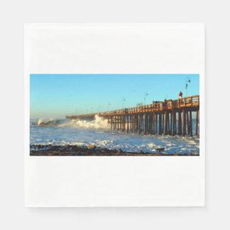 Ocean Wave Storm Pier Disposable Napkins