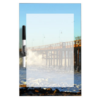 Ocean Wave Storm Pier Dry Erase Board