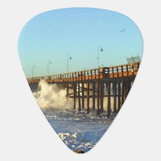 Ocean Wave Storm Pier Guitar Pick