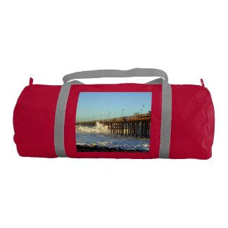 Ocean Wave Storm Pier Gym Bag