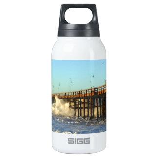 Ocean Wave Storm Pier Insulated Water Bottle