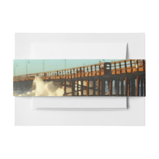 Ocean Wave Storm Pier Invitation Belly Band