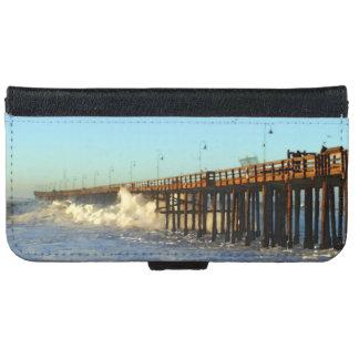 Ocean Wave Storm Pier iPhone 6 Wallet Case