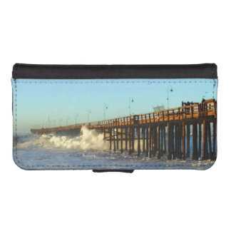 Ocean Wave Storm Pier iPhone SE/5/5s Wallet Case