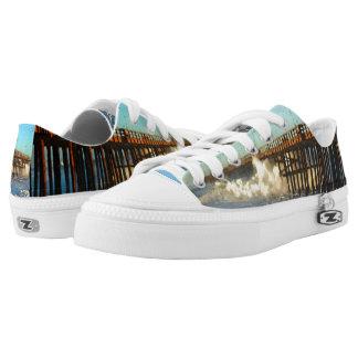 Ocean Wave Storm Pier Low-Top Sneakers