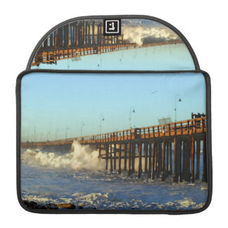 Ocean Wave Storm Pier MacBook Pro Sleeves
