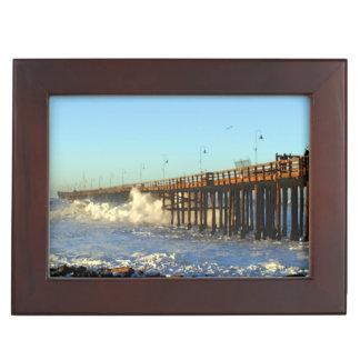 Ocean Wave Storm Pier Memory Boxes