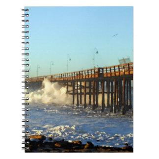 Ocean Wave Storm Pier Notebooks