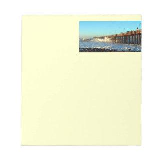 Ocean Wave Storm Pier Notepad