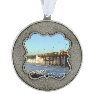 Ocean Wave Storm Pier Ornament