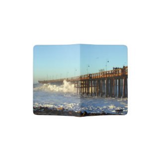 Ocean Wave Storm Pier Passport Holder