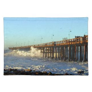 Ocean Wave Storm Pier Placemat