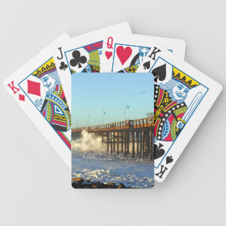 Ocean Wave Storm Pier Poker Deck