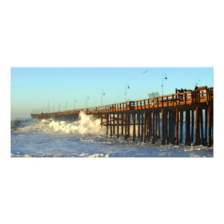 Ocean Wave Storm Pier Rack Card
