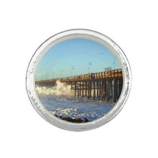 Ocean Wave Storm Pier Rings