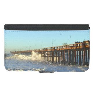 Ocean Wave Storm Pier Samsung Galaxy S5 Wallet Case