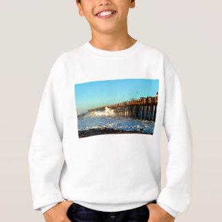 Ocean Wave Storm Pier Sweatshirt